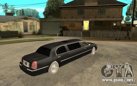 Lincoln Towncar limo 2003 para la visión correcta GTA San Andreas