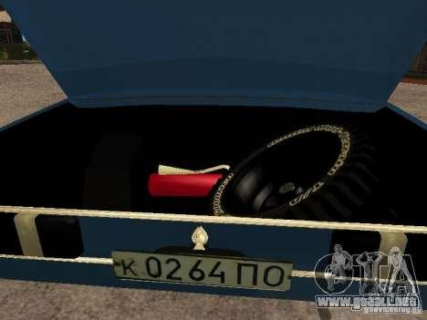 Moskvich 412-4 x 4 para visión interna GTA San Andreas