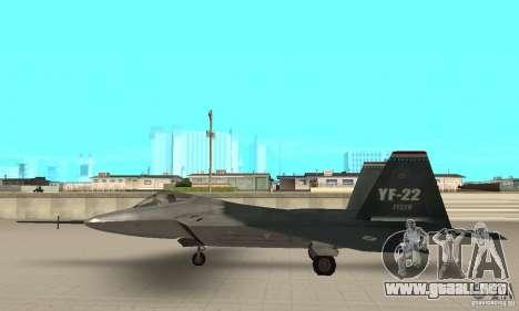 YF-22 Standart para GTA San Andreas left