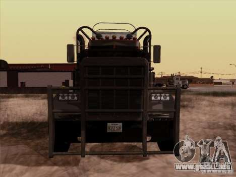 Peterbilt 359 Day Cab para GTA San Andreas left