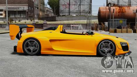 Audi R8 Spider Body Kit Final para GTA 4 left