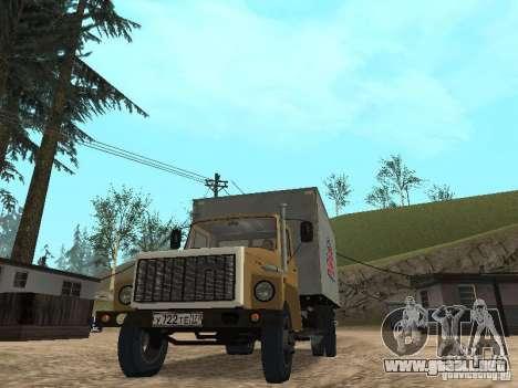 GAZ 3309 CR v2 para la visión correcta GTA San Andreas