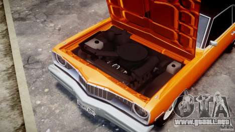 Dodge Dart GT 1975 [Final] para GTA 4 vista interior