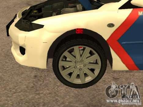 Mazda 6 Police Indonesia para visión interna GTA San Andreas