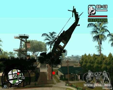 Blackhawk UH60 Heli para GTA San Andreas left