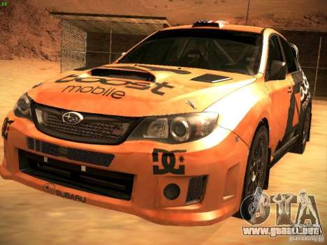 Subaru Impreza Gravel Rally para el motor de GTA San Andreas
