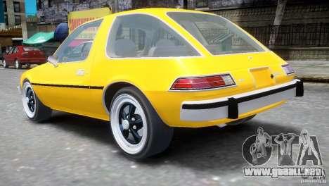 AMC Pacer 1977 v1.0 para GTA 4 Vista posterior izquierda