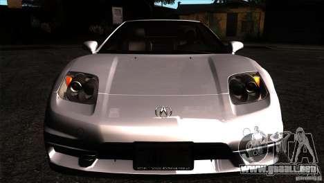 Acura NSX Stock para visión interna GTA San Andreas