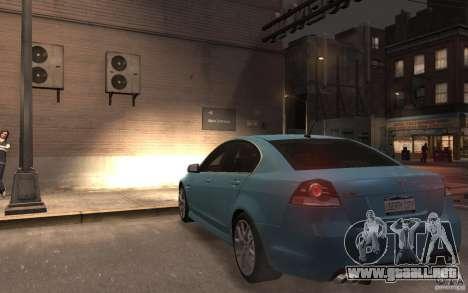 Pontiac G8 GXP para GTA 4 Vista posterior izquierda