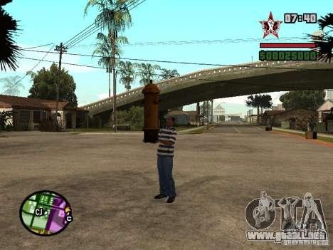 CJ-cleptómano para GTA San Andreas segunda pantalla