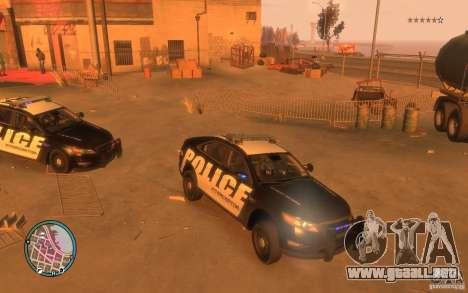 Ford Taurus Police para GTA 4 left