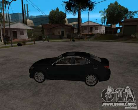 Lexus IS-F v2.0 para GTA San Andreas left