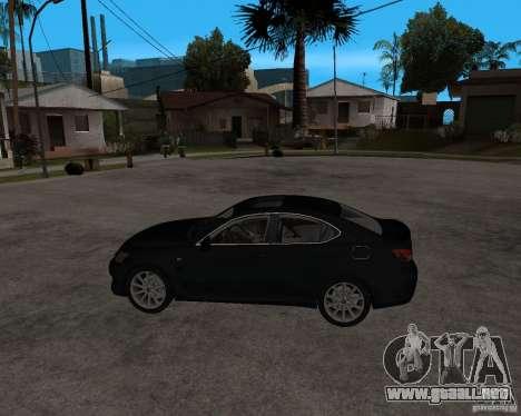 Lexus IS-F v2.0 para GTA San Andreas