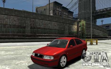 Skoda Octavia v.1.0 para GTA 4 vista hacia atrás