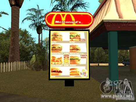Mc Donalds para GTA San Andreas
