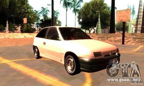 Opel Astra 1993 para la visión correcta GTA San Andreas
