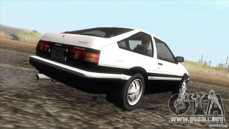 Toyota Sprinter Trueno AE86 GT-Apex para la visión correcta GTA San Andreas