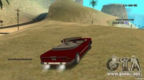 Feltzer HD para visión interna GTA San Andreas