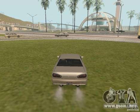 Salida de emergencia coche para GTA San Andreas tercera pantalla