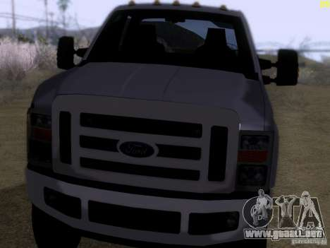 Ford F350 Super Dute para GTA San Andreas left