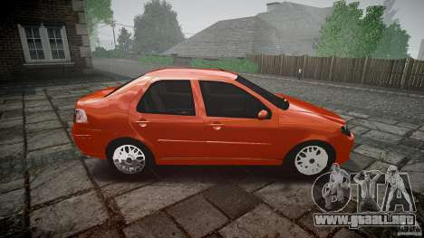 Fiat Albea Sole para GTA 4 vista interior