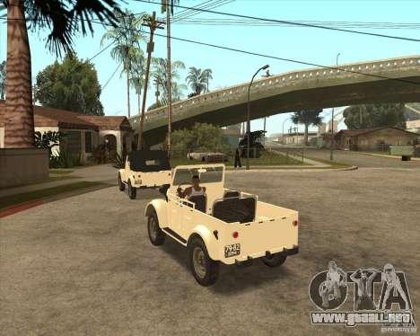 GAZ 69A para la visión correcta GTA San Andreas