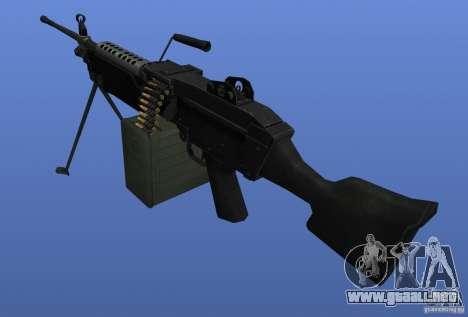 Ametralladora M249SAW para GTA 4 segundos de pantalla