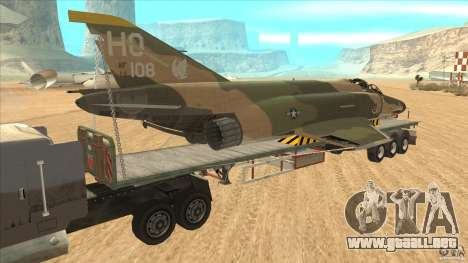 Flatbed trailer with dismantled F-4E Phantom para GTA San Andreas