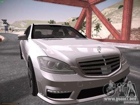 Mercedes Benz S65 AMG 2012 para GTA San Andreas left