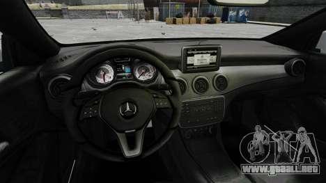 Mercedes-Benz CLA 250 2014 para GTA 4 vista hacia atrás