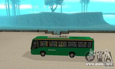 MetroBus of Venezuela para GTA San Andreas vista posterior izquierda