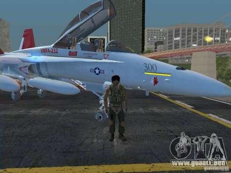 FA-18D Hornet para GTA San Andreas vista posterior izquierda