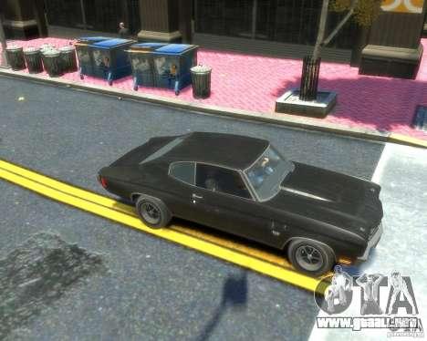 Chevrolet Chevelle SS 454 1970 para GTA 4 vista hacia atrás
