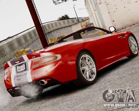 Aston Martin DBS Volante 2010 v1.5 Bonus Version para GTA 4 Vista posterior izquierda