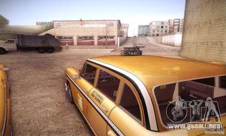 Cabbie HD para GTA San Andreas vista hacia atrás