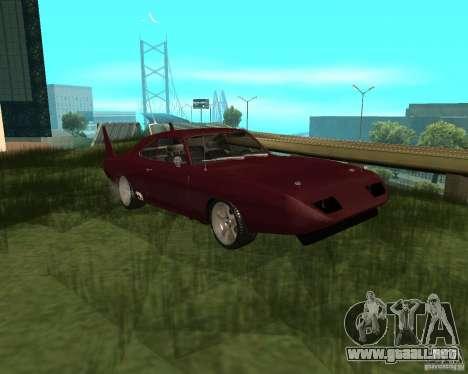 Dodge Charger Daytona para GTA San Andreas left