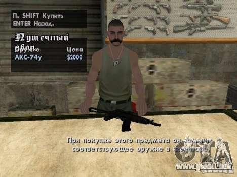 Armas Pak domésticos para GTA San Andreas décimo de pantalla