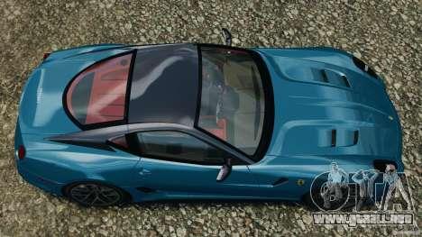Ferrari 599 GTO 2011 para GTA 4 visión correcta