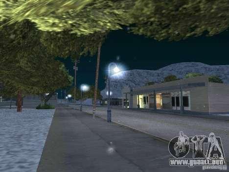 Nieve para GTA San Andreas sucesivamente de pantalla