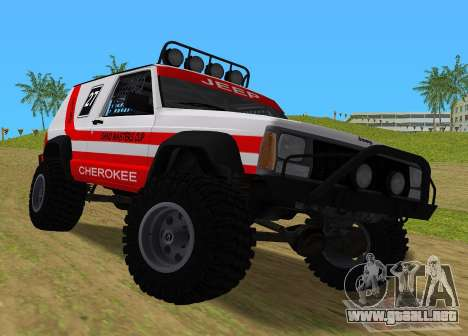 Jeep Cherokee 1984 Sandking para GTA Vice City