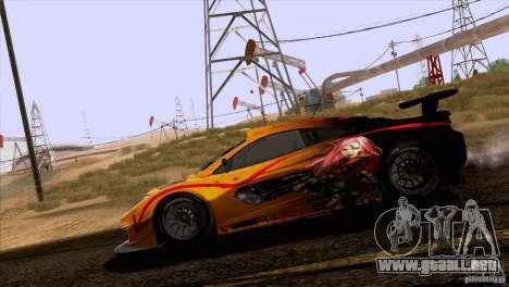 Pintura trabajos McLaren MP4-12 c Speedhunters para visión interna GTA San Andreas