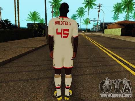 Mario Balotelli v2 para GTA San Andreas sucesivamente de pantalla