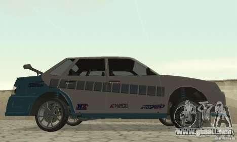 VAZ 21099 PROstreet v. 2 para GTA San Andreas vista posterior izquierda