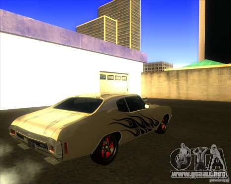 Chevy Chevelle SS Hell 1970 para la visión correcta GTA San Andreas