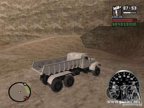 Camión KRAZ 225 para visión interna GTA San Andreas