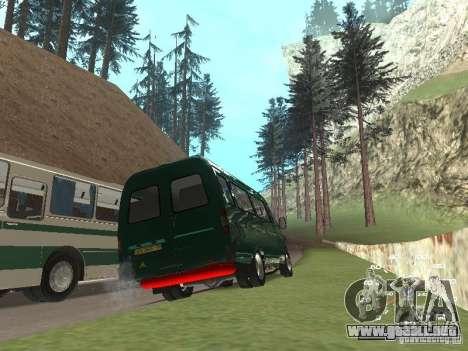 GAZ 32213 para GTA San Andreas vista hacia atrás