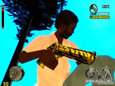 Tiger wepon pack para GTA San Andreas tercera pantalla
