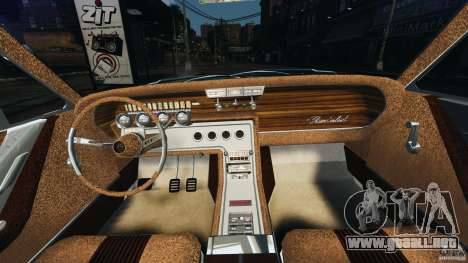 Ford Thunderbird Light Custom 1964-1965 v1.0 para GTA 4 vista hacia atrás