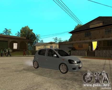 Toyota Vitz para la visión correcta GTA San Andreas