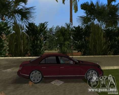 Maybach 57 para GTA Vice City vista posterior